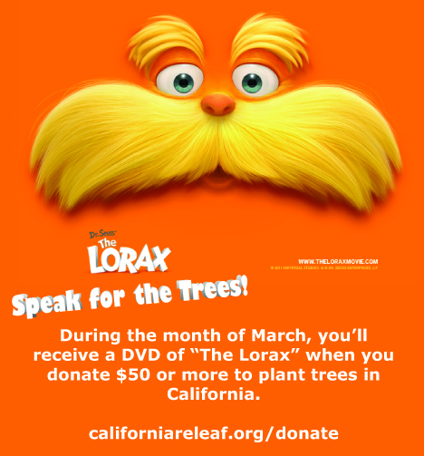 Donate $50 or more to receive your copy of the Lorax.