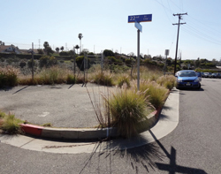 Before: An open space adjacent to the I-10 freeway in Santa Monica.