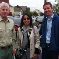 USDA Forest Service Chief Tom Tidwell, USDA Forest Service Urban & Community Forestry Manager Sandy Macias, and California ReLeaf Executive Director Joe Liszewski