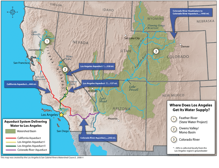 on california water supply map