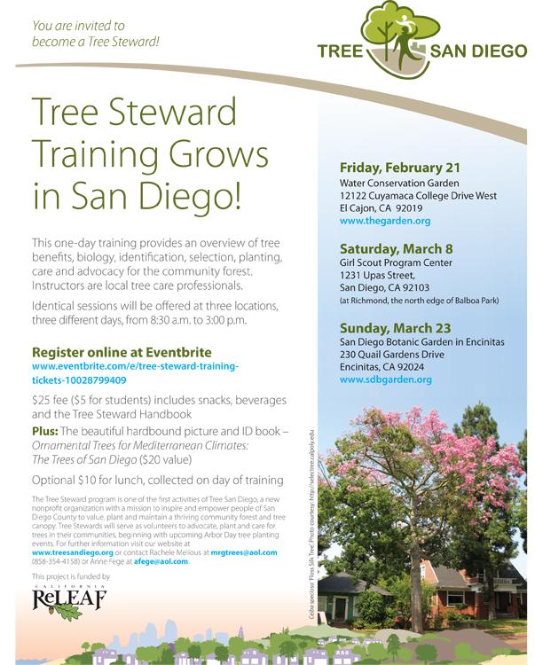 Become a San Diego Tree Steward