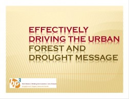 Effectively driving the urban forest and drought message.