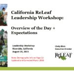 California ReLeaf Leadership Workshop: Overview of the Day and Expectations