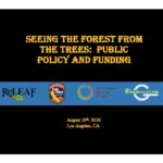 Seeing the forest from the trees: public policy and funding.