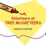 Volunteers at Tree Musketeers. Lessons Learned.