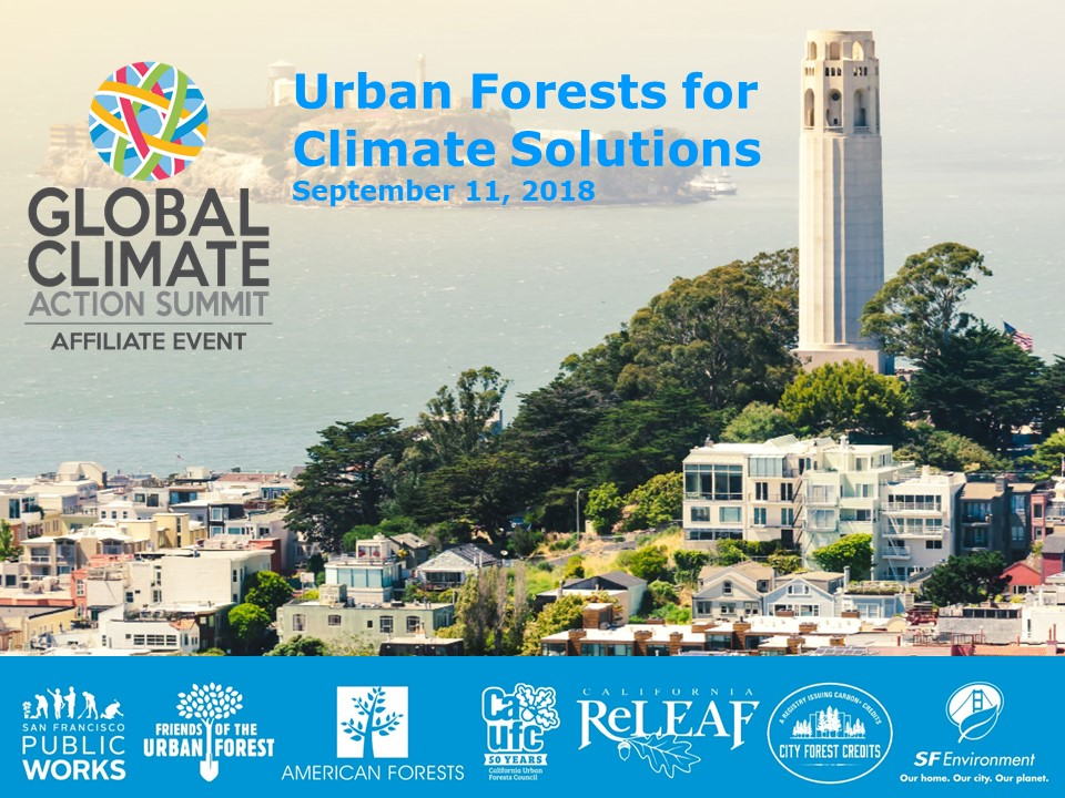 Urban Forests for Climate Solutions. September 11, 2018.