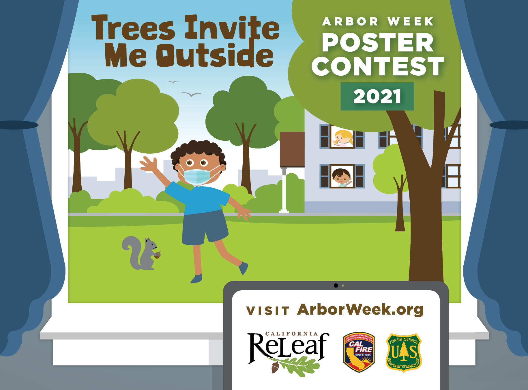 Trees Invite Me Outside: 2021 Arbor Week Poster Contest